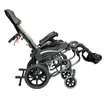 Karman 16 inch Tilt in Space Reclining Transport Wheelchair with Elevating Legrest