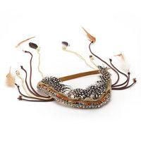 Mudd Beaded Rainbow Headpiece (Brown)