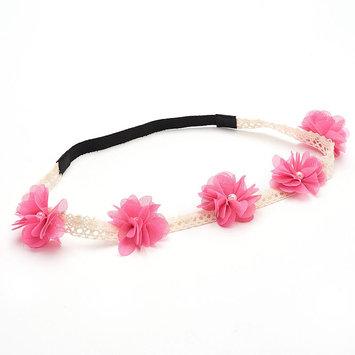 Mudd Crochet Floral Headpiece (Pink)
