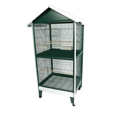 A&e Cage Two Story Pitched Roof Aviary Bird Cage
