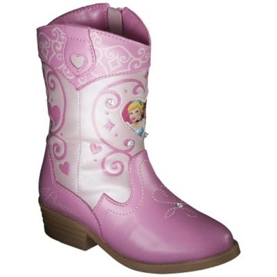 Disney Toddler Girl's Princess Cowboy Boots - Pink 6