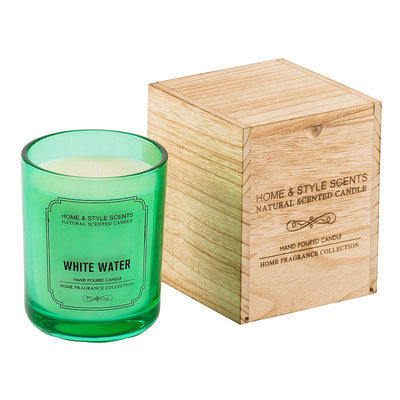 Home & Style Scents White Water 16 oz. Candle (Green)
