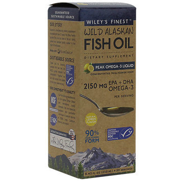 Wild Alaskan Fish Oil Peak Omega 3 Wileys Finest 8.4 oz (50 Servings) Liquid