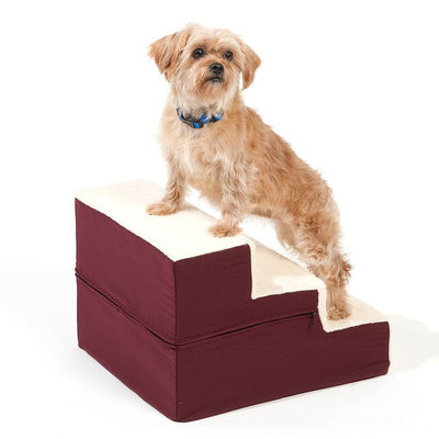 Doctors Foster & Smith Dura Ruff Indoor 3-Step Pet Stair (Red)