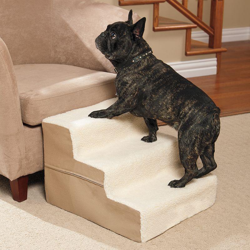 Doctors Foster & Smith Dura Ruff Indoor 3-Step Pet Stair (Beige/Khaki)