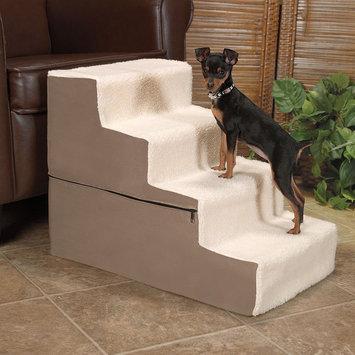 Doctors Foster & Smith Dura Ruff Indoor 4-Step Pet Stair (Beige/Khaki)