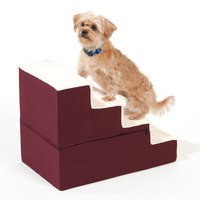 Doctors Foster & Smith Dura Ruff Indoor 4-Step Pet Stair (Red)