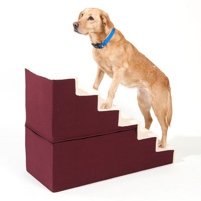 Doctors Foster & Smith Dura Ruff Indoor 6-Step Pet Stair (Red)