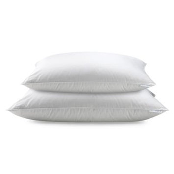Real Simple 100% Cotton White Down Pillow