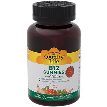 B 12 Gummies Country Life 60 Gummy