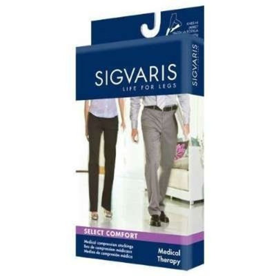 Sigvaris 860 Select Comfort Series 20-30 mmHg Open Toe Unisex Knee High Sock Size: S1, Color: Crispa 66