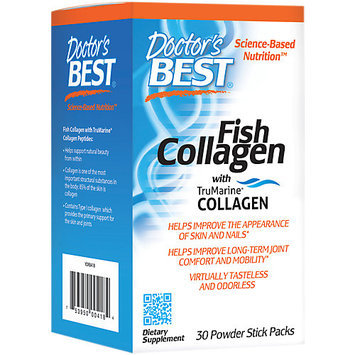 Doctor's Best Fish Collagen with TruMarine Collagen Doctors Best 30 Stick Packs Powder