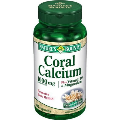 Nature's Bounty Coral Calcium 1000 Mg. Plus Vitamin D and Magnesium, 60 Count (Pack of 2)