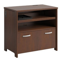 BUSH BUSINESS FURNITURE Bush Industries Envoy Collection Tech Lateral File in Hansen Cherry Finish