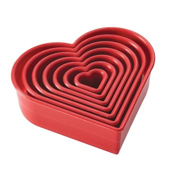 Cake Boss Decorating Tools 7-pc. Heart Fondant & Cookie Cutter Set