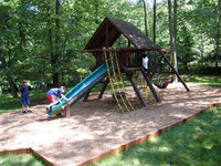 Frame-it-all Playground Equipment. 64 ft. Playground Border Kit
