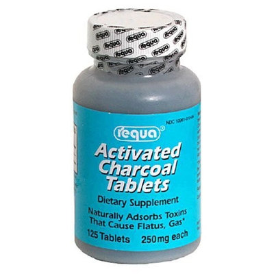 Requa Activated Charcoal 250 mg 125 Tablets