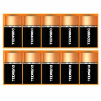 Duracell Coppertop C Alkaline Batteries, 10 ea