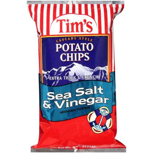 Tim's Cascade Style Tim¬タルs Cascade Style Sea Salt And Vinegar Potato Chips, 8 oz