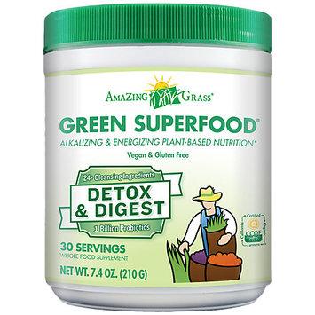 Detox & Digest GSF Amazing Grass 7.4 oz (210 g) Powder