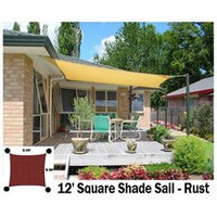 Us Shade Sail San Diego Shade Sail 12' Square - Rust