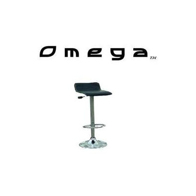 Modern Bar Stools Omega Contemporary Bar Stool - Black