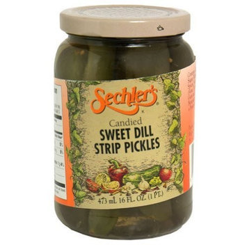 Sechler's, Pickle Candied Sweet Dill Strip, 16-Ounce (6 Pack)