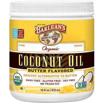 Barleans Organic Coconut Oil Butter Flavored Barlean's 16 fl oz (473 ml) Oil