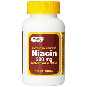 Rugby Extended Release Niacin 500 mg 100 Caps