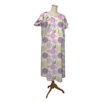 Farallon the peanut shell Hospital Gown, Dahlia, Small/Medium