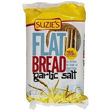 Suzies Suzie's Flatbread, Garlic Salt, 4.5-Ounce Bags (Pack of 12)