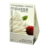 Foxy Gourmet HoneyDew Melon Mousse Mix, 3.2 Ounce Boxes (Pack of 3)