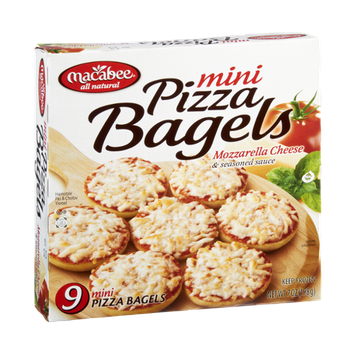 Macabee All Natural Mozzarella Cheese & Seasoned Sauce Mini Pizza Bagels - 9 CT