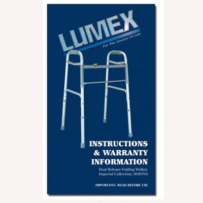 Lumex Imperial Collection Dual Release X-Wide Folding Walker