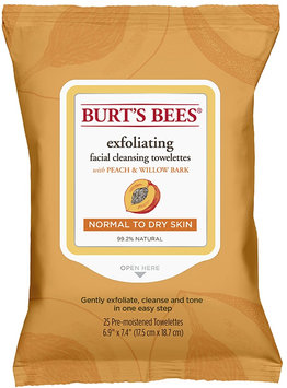 Burt's Bees Facial Cleansing Towelettes Peach & Willowbark Exfoliating