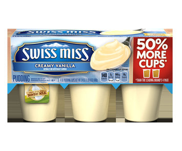 Swiss Miss Pudding Creamy Vanilla Naturally and Artificially Flavored