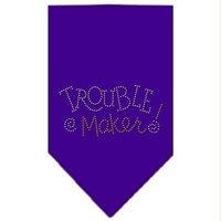 Ahi Trouble Maker Rhinestone Bandana Purple Small