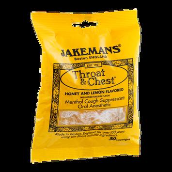 Jakemans Throat & Chest Menthol Lozenges Honey and Lemon - 30 CT