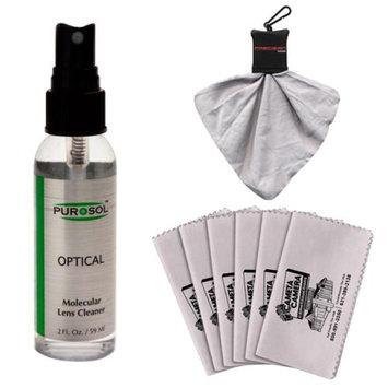 PUROSOL Purosol All Natural Optical Molecular Lens & DSLR Camera Cleaner (2 Fl. Oz.) with Spudz + 3 Microfiber Cleaning Cloths