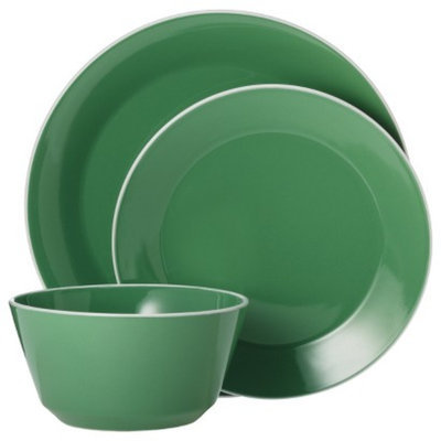 Room Essentials Angled Rim 12 Piece Dinnerware Set - Fresh Green