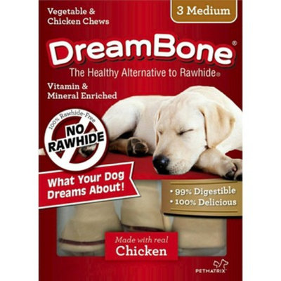 Dreambones DreamBone Vegetable and Chicken Medium Dog Chews 3 ct