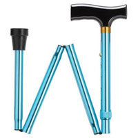 Harvy Unisex Folding Adjustable Fritz Cane Blue Aluminum -Affordable Gift! Item #DHAR-9052302