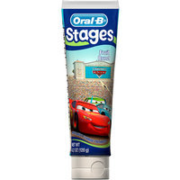 Oral-B Crest Pro-Health Stages Disney Cars Kid's Toothpaste 4.2 Oz