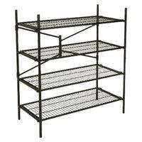 Cosco Garage 4-Shelf Storage Rack - Black