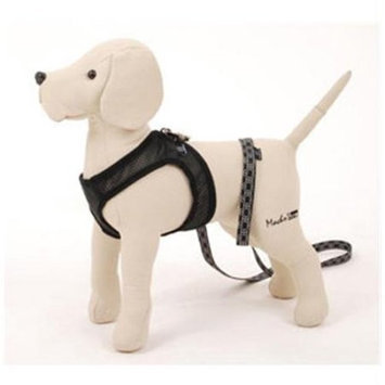 Pet Ego City Airness Harness and Leash for Dogs Black, Size: Medium (14-15 in. Girth)