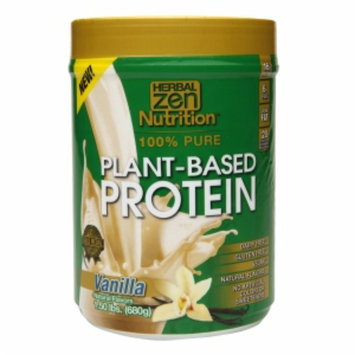 Herbal Zen Nutrition(tm) 100% Pure Plant-Based Protein - Vanilla