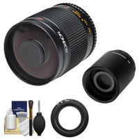Rokinon 500mm f/8.0 Mirror Lens (T Mount) with 2x Teleconverter (=1000mm) + Cleaning Kit for Nikon 1 J1, J2 & V1 Digital Cameras