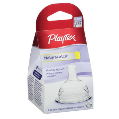 Playtex NaturaLatch Silicone Nipple, Slow Flow