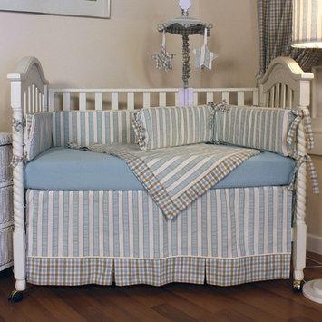 Hoohobbers Spa Blue 4 Piece Crib Bedding Set
