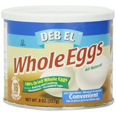 Deb El Deb-El Powdered Whole Eggs, 8-Ounce Containers (Pack of 6)